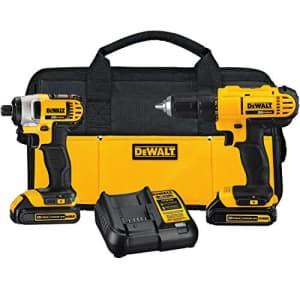 DeWalt DEWALT 20V MAX Cordless Drill Combo Kit, 2-Tool (DCK240C2) for $189