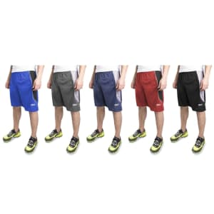 Reebok Men's Two-Toned Performance Mesh Shorts 4-Pack for $35