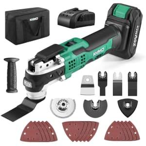 Kimo 20V Cordless Oscillating Tool Kit for $76