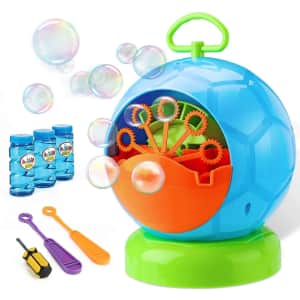 Fansteck Bubble Machine with Bubble Solution for $16