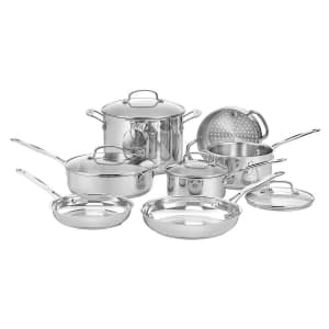 Cuisinart Chef's Classic 11-Piece Stainless Steel Cookware Set for $193