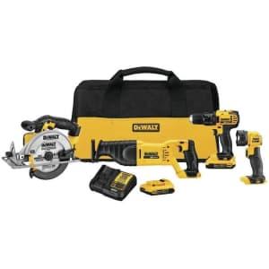 DeWalt 4-Tool 20V Max Power Tool Combo Kit for $429