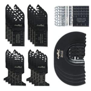 AugTouf 24-Piece Oscillating Tool Blade Set for $16