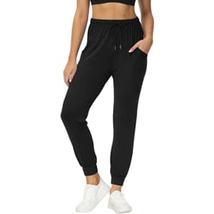 Uni Clau Women's Stretch Joggers Pants w/ Pockets for $13 w/ Prime