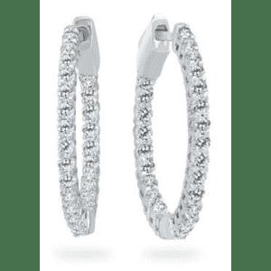 Szul 1-TCW Diamond Hoop Earrings for $567