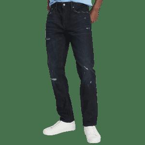 Old Navy Men's Slim Built-In Flex Distressed Jeans for $12 in cart
