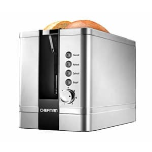 Chefman 2-Slice Pop-Up Stainless Steel Toaster w/ 7 Shade Settings Extra Wide Slots for Toasting for $59