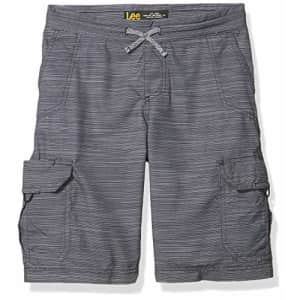 Lee Jeans Lee Boy Proof Pull-On Crossroad Cargo Short, Gray Galaxy, 12 Husky for $19