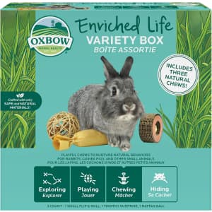 Oxbow Enriched Life Small Animal 3-Piece Natural Chew Toy Set: free w/ $25 Oxbow small animal items purchase