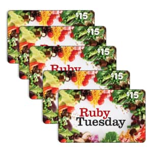 $75 Ruby Tuesday Gift Card for $56 for members