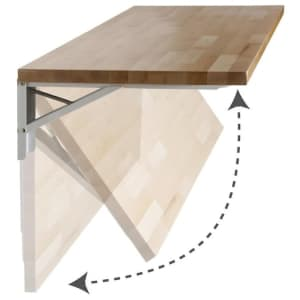 "Sparrow Peak 48""x20"" Hardwood Work Bench for $99"