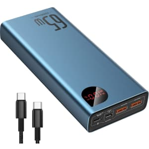 Baseus 20,000mAh Power Bank for Laptops and Phones for $30