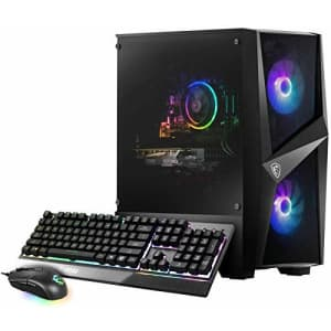 MSI Codex R (Tower) Gaming Desktop, Intel Core i5-10400F, GeForce RTX 2060, 16GB Memory, 500GB SSD for $1,649