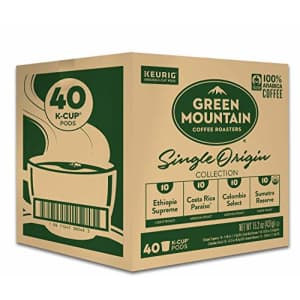 Green Mountain Coffee Roasters Single Origin Collection Variety Pack, Single-Serve Keurig K-Cup for $25