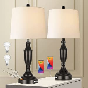 Bedside Touch-Control Table Lamps Set of 2 for $55