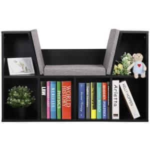 Veikous Reading Nook Storage Bookshelf for $85