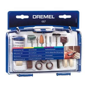 Dremel 687-01 52-Piece All-Purpose Rotary Tool Accessory Kit- Includes a Carving Bit, Sanding for $11