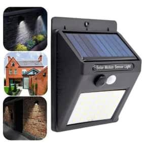 Solar Powered Motion Sensor COB LED Light for $6