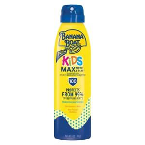 Banana Boat SPF 100 UltraMist Kids MAX Protect & Play 6-oz. Spray Sunscreen: 2 for $12.58 via Sub. & Save