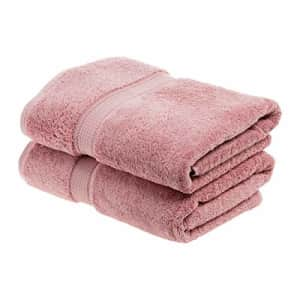 SUPERIOR Egyptian Cotton Solid Towel Set, 2PC Bath, Tea Rose, 2 Count for $33
