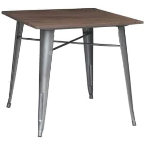 Stylewell Finwick Square Metal Dining Table for $89