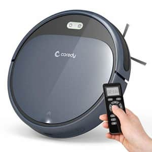 Coredy Robot Vacuum Cleaner, 1400Pa Super-Strong Suction, Ultra Slim, Automatic Self-Charging for $198