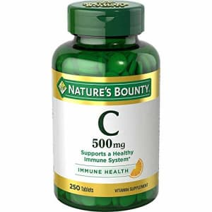 Nature's Bounty Vitamin C 500 mg, 250 Tablets (Pack of 2) for $20