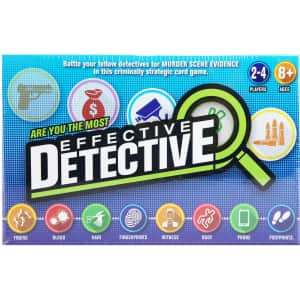 Effective Detective Strategic Card Game for $13