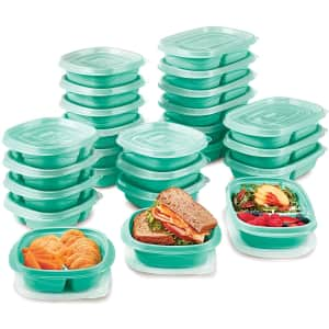 Rubbermaid TakeAlongs On The Go Food Storage and Meal Prep Containers 25-Pack for $25