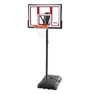 "Lifetime 48"" Adjustable Portable Basketball Hoop for $170"