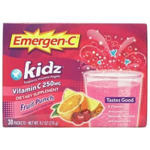 Emergen-C Kidz 250mg Kids Vitamin C Powder, Caffeine Free, Immune Support Drink Mix, Fruit Punch for $35