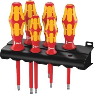 Wera Kraftform Plus 160i/6 Insulated Professional Screwdriver Set for $34