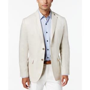Tasso Elba Men's 100% Linen 2-Button Blazer for $47