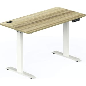 SHW Electric Memory Preset Height Adjustable Computer Desk for $229
