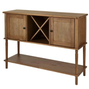 StyleWell Wood Buffet Table w/ Wine Storage for $135