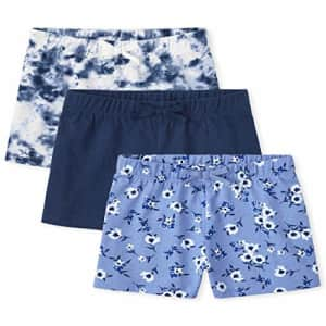 The Children's Place Girls Print Shorts 3-Pack, Milky Way, Medium for $17