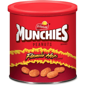 Frito Lay Munchies Flamin' Hot Flavored Peanuts 16-oz. Canister 4-Pack for $12 via Sub & Save