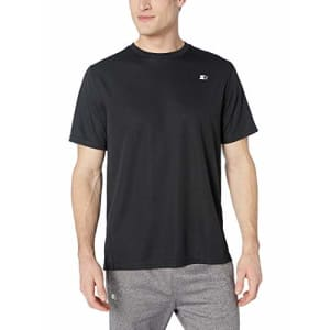 Starter Men's Short Sleeve Classic-Fit Tech T-Shirt, Amazon Exclusive, Black, Large for $14