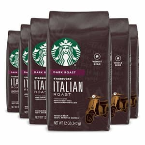 Starbucks Dark Roast Whole Bean Coffee Italian Roast 100% Arabica 6 bags (12 oz. each) for $53