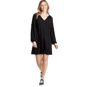 Maurices Women's Ribbed Blouson Sleeve Shift Dress for $13