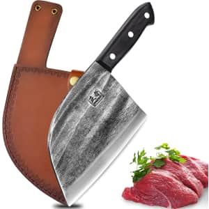 Enoking Serbian Hand Forged Butcher Knife for $18