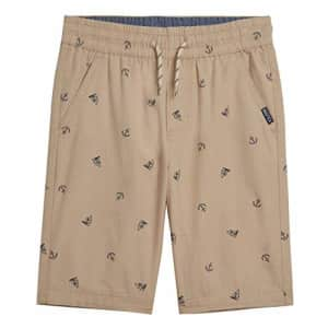 Nautica Boys' Drawstring Pull-on Shorts, Stone, 3T for $9