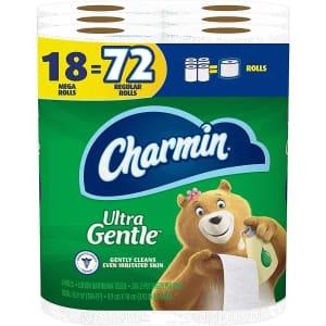 Charmin Ultra Gentle Mega Roll Toilet Paper 18-Pack for $19