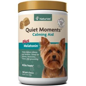 NaturVet Quiet Moments Calming Dog Soft Chew 180-Ct. Bottle for $18