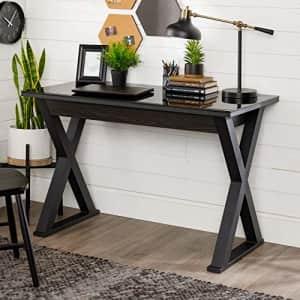 Walker Edison Furniture Modern Farmhouse X Wood Laptop Computer Writing Desk Home Office for $226