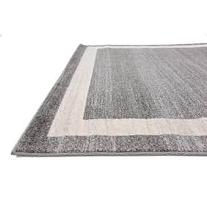 Unique Loom Del Mar Collection Contemporary Transitional Gray Area Rug (5' 0 x 8' 0) for $77