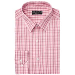 Alfani Men's AlfaTech Gingham Slim Fit Dress Shirt for $8