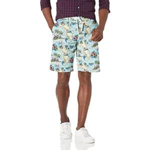 Tommy Hilfiger Men's Beach Shorts, 8551 Postcard Print+Light Blue/Multi, 38 for $30