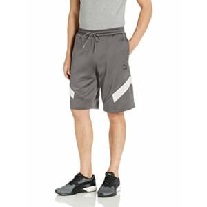 """PUMA Men's Iconic MCS Shorts 10"""" Shorts, Smoked Pearl, S for $41"""
