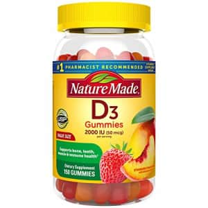 Nature Made Vitamin D3 2000 IU (50 mcg) Gummies, 150 Count for Bone Health (Packaging May Vary) for $28